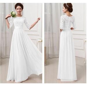 Длинное белое кружевное платье купить