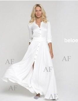8ced3ec2e94 Платье-рубашка белое расклешенное - купить - Интернет-магазин shop ...