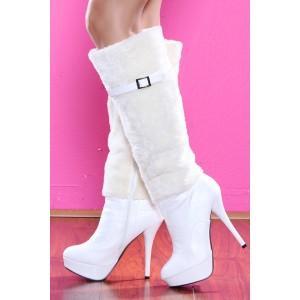 Купить белые сапоги женские Интернет магазин модной