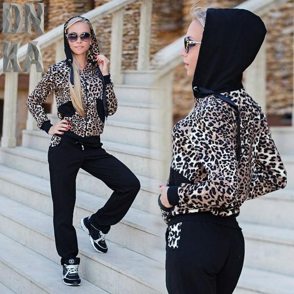 Женский костюм леопардовый