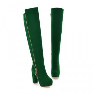 fc615f0b3b3e Женские ботфорты на платформе черные зеленые хаки - купить ...